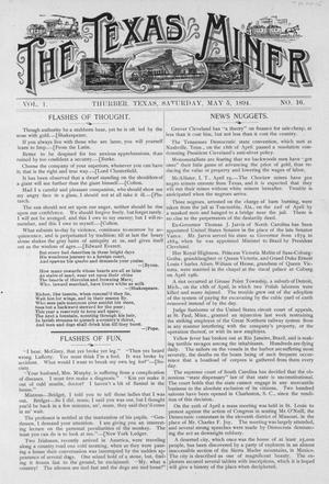 Primary view of object titled 'The Texas Miner, Volume 1, Number 16, May 5, 1894'.