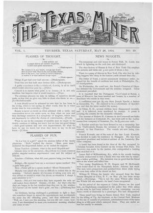 Primary view of object titled 'The Texas Miner, Volume 1, Number 19, May 26, 1894'.