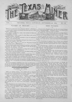 The Texas Miner, Volume 1, Number 37, September 29, 1894