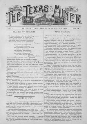 The Texas Miner, Volume 1, Number 38, October 6, 1894