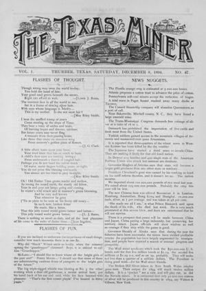 Primary view of object titled 'The Texas Miner, Volume 1, Number 47, December 8, 1894'.