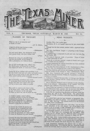 The Texas Miner, Volume 2, Number 11, March 30, 1895