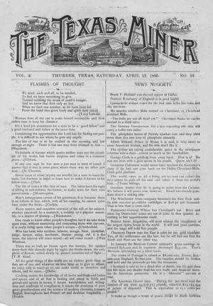 The Texas Miner, Volume 2, Number 13, April 13, 1895