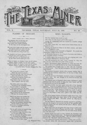 The Texas Miner, Volume 2, Number 26, July 13, 1895
