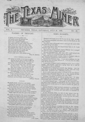 The Texas Miner, Volume 2, Number 28, July 27, 1895