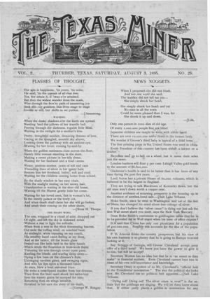 The Texas Miner, Volume 2, Number 29, August 3, 1895