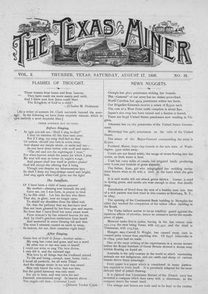 Primary view of object titled 'The Texas Miner, Volume 2, Number 31, August 17, 1895'.