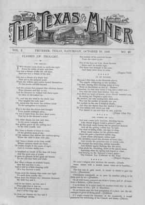 Primary view of object titled 'The Texas Miner, Volume 2, Number 40, October 19, 1895'.