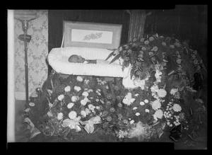 Primary view of object titled '[Photograph of a Man in a Casket]'.