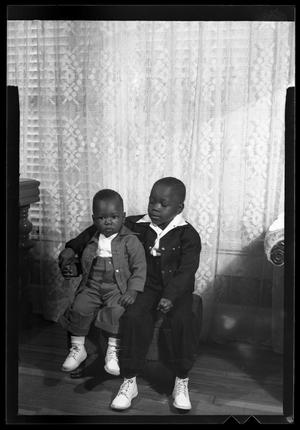Primary view of object titled '[Photograph of Two Young Boys]'.