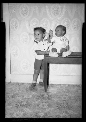 Primary view of object titled '[Photograph of Two Children]'.