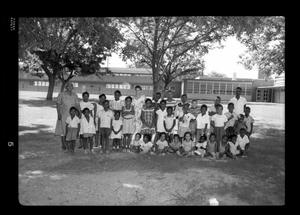 Primary view of object titled '[Photograph of a Group of Children]'.