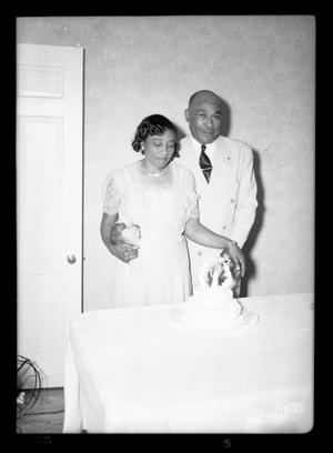Primary view of object titled '[Photograph of a Couple]'.