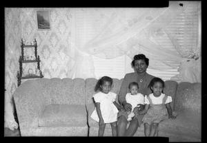 Primary view of object titled '[Photograph of a Mother and Her Children]'.
