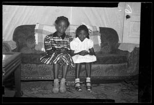 Primary view of object titled '[Photograph of Two Young Girls]'.