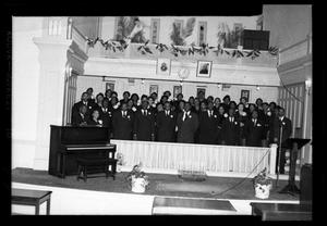 Primary view of object titled '[Photograph of a Church Choir]'.