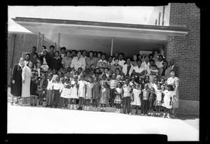 Primary view of object titled '[Photograph of a Church Congregation]'.
