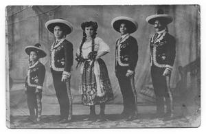 Primary view of object titled '[Abreu Troupe in Costume]'.
