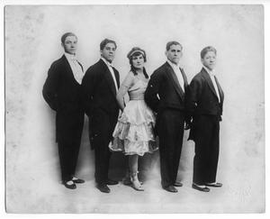 Primary view of object titled '[Federica and Brothers at the Majestic Theatre]'.