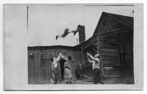 Primary view of object titled '[Abreu Troupe Rehearsing Performance]'.