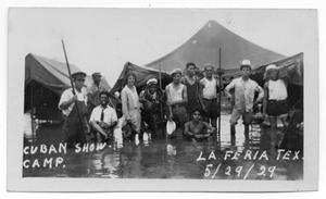 Primary view of object titled '[Carpe Cubana's Flooded Show Camp]'.
