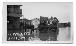 Primary view of object titled '[La Feria Inundated with Flood Water]'.
