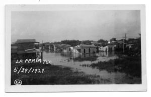 Primary view of object titled '[Flood in La Feria, Texas]'.