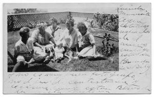 Primary view of object titled '[Family Portrait with Dog]'.