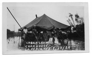 Primary view of object titled '[Cuban Cookhouse Inundated with Flood Waters]'.