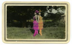 Primary view of object titled '[Amelia and Angela in Costume]'.