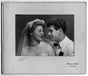 Primary view of object titled '[Wedding Photograph of Lita and Louis Abreu]'.