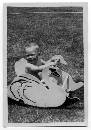Primary view of object titled 'Portrait of Toddler in Rocker'.