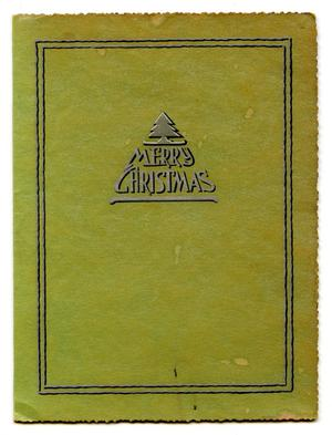 Primary view of object titled 'Adolph's Christmas Card'.