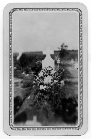 Primary view of object titled 'Tombstone with Flowers'.