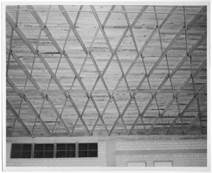 Primary view of object titled 'Ceiling of Memorial Gym'.