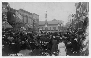 Primary view of object titled 'Abreu Troupe Performing at the Mendota Carnival'.