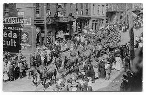 Primary view of object titled 'Ringling Brothers Parade In Town'.