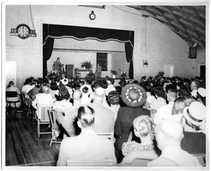 Primary view of object titled 'Graduation in Memorial Gym'.