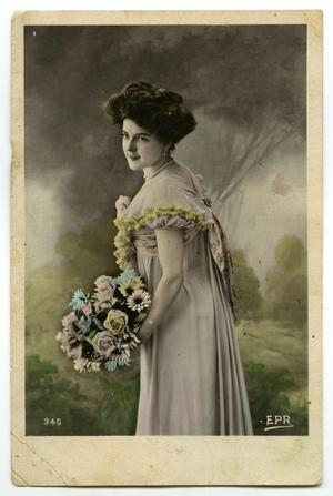 Primary view of object titled 'Portrait of Woman with Flowers'.