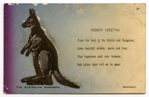 Primary view of object titled 'Kangaroo Postcard'.