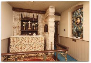 Primary view of object titled '[Interior of Grace Chapel]'.