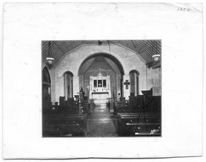 Primary view of object titled '[Church Interior and Altar]'.