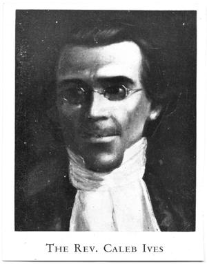 Primary view of object titled '[Portrait of Reverend Caleb Ives]'.