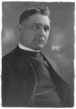Primary view of object titled '[Portrait of Reverend Milton R. Worsham]'.