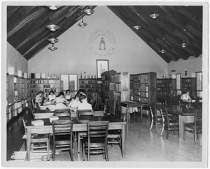 Primary view of object titled 'Hirschi Founders Library reading room'.