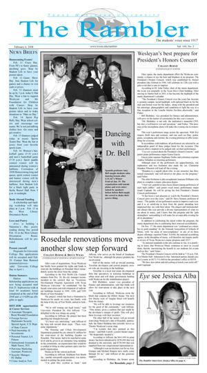 The Rambler (Fort Worth, Tex.), Vol. 100, No. 2, Ed. 1 Wednesday, February 6, 2008