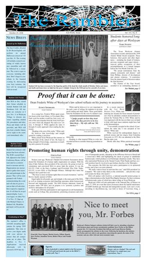 The Rambler (Fort Worth, Tex.), Vol. 101, No. 8, Ed. 1 Wednesday, October 29, 2008