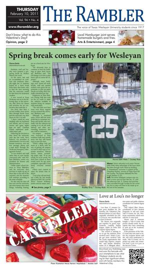 The Rambler (Fort Worth, Tex.), Vol. 94, No. 4, Ed. 1 Thursday, February 10, 2011
