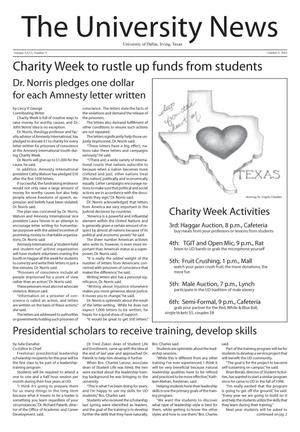 The University News (Irving, Tex.), Vol. 26, No. 5, Ed. 1 Wednesday, October 3, 2001