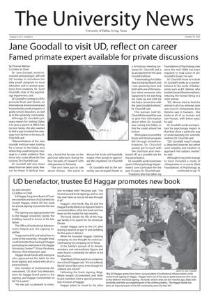 Primary view of object titled 'The University News (Irving, Tex.), Vol. 26, No. 6, Ed. 1 Wednesday, October 10, 2001'.